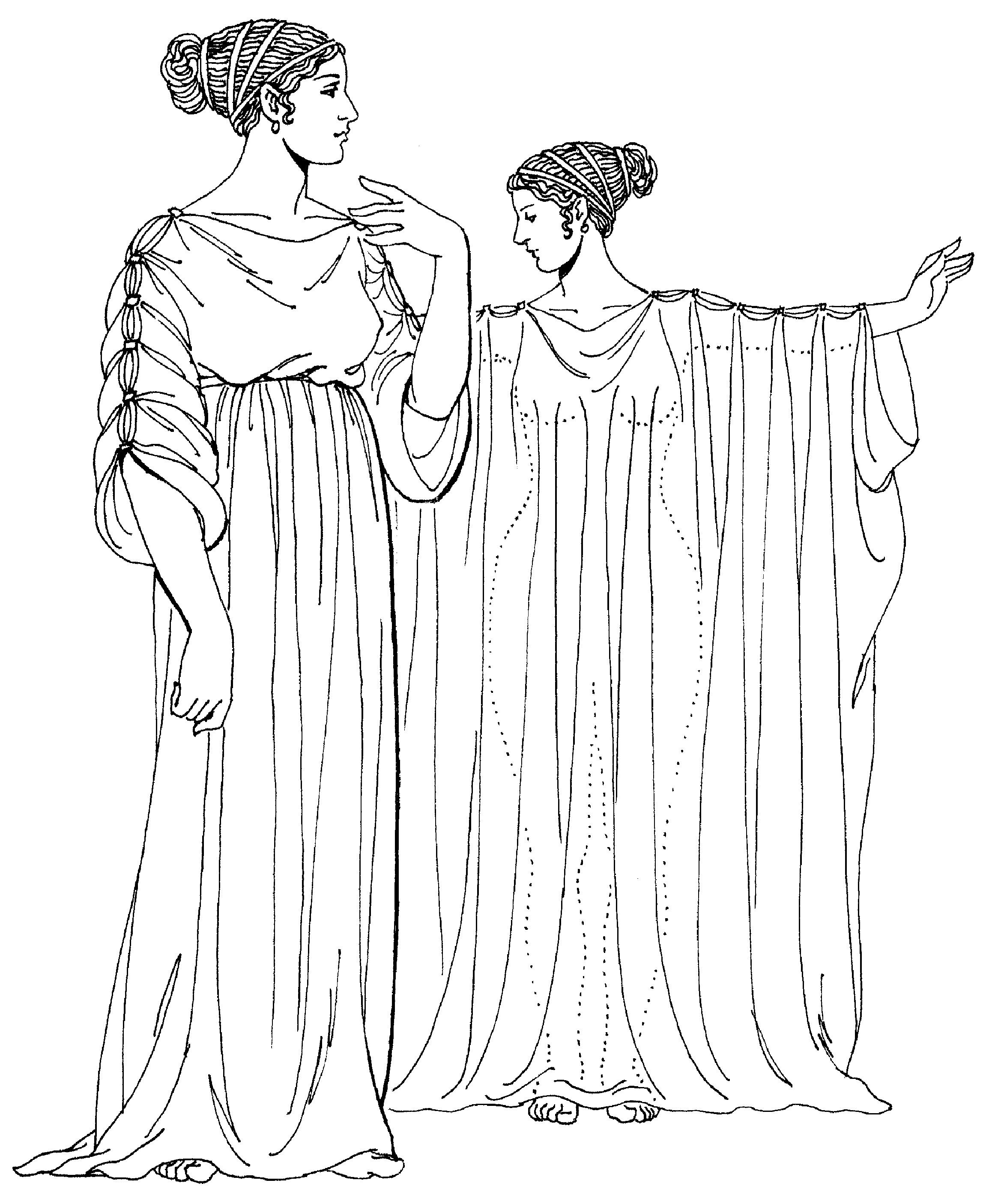 Рисунок одежда древних греков 6