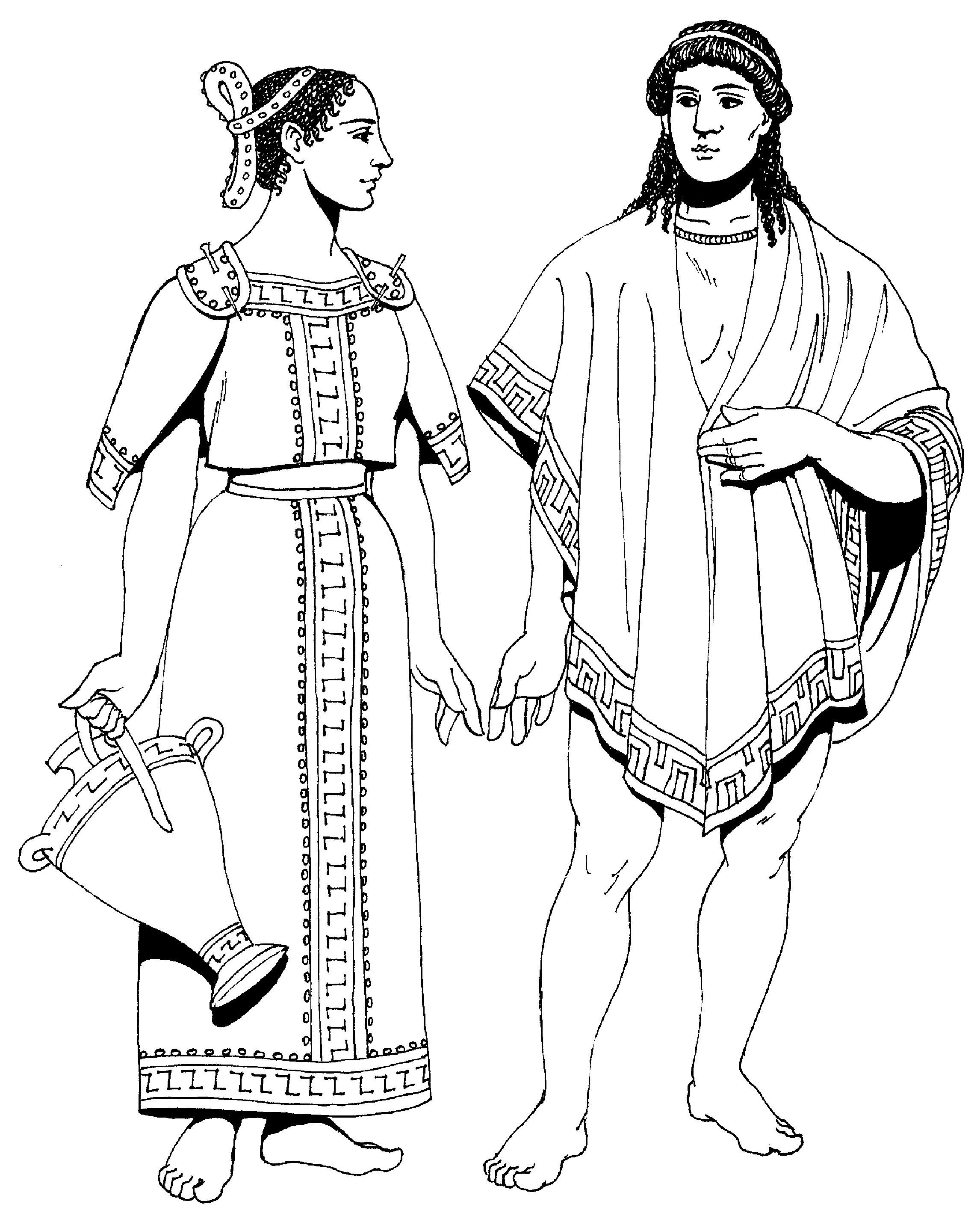 Рисунок одежда древних греков 2