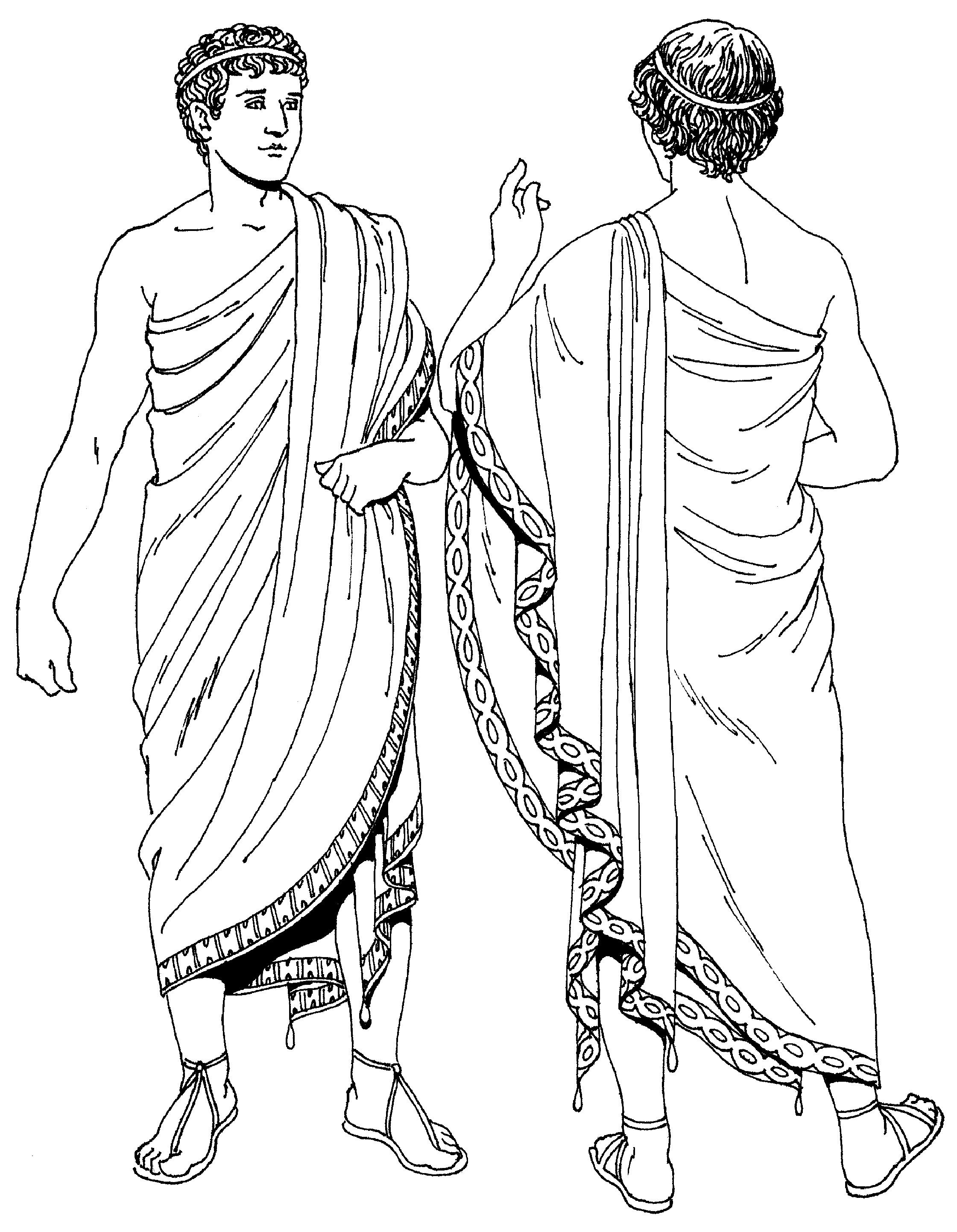 Одежда человека в древней греции